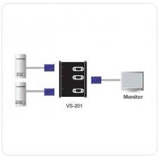2 Port VGA Seçici , 2 giriş - 1 çıkış (2 Port Video Switch)  VİDEO ÇOKLAYICI