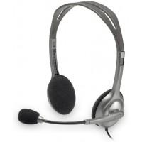 Logitech H110 Mikrofonlu çift 3,5 mm jaklı Kulaklık