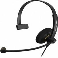 Sennheiser SC 30 ED Taçlı Kablolu HD Ofis Kulaklığı ve CSTD 01 Ara Kablo ile