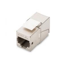 Digitus CAT 6A Keystone Jack, Shielded/Zırhlı, 500 MHz, 50μm Altın Kaplama, Aletsiz Sonlandırılabilir  KABLO & KONNEKTÖR