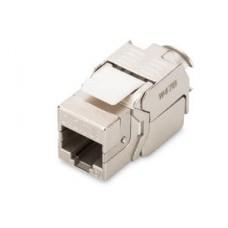 Digitus CAT 6A Keystone Jack, zırhlı/shielded, Re-embedded, 500 MHz acc. ISO/IEC 11801:2002 AM2:2009/09, aletsiz sonlandırma   KABLO & KONNEKTÖR